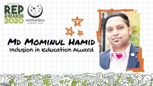 "I have Won ""Inclusion In Education Award"" Northumbria University, UK 2020. My First University Award."
