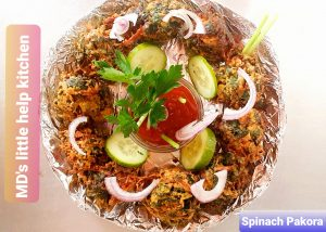 Make Spinach Pakora Meal in £1.80- Md's Little Help Kitchen in #Covid-19👨🏽🍳👆