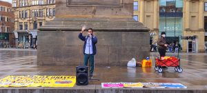 "My Speech – ""Refugees Are Welcome"" organized by Stand up for Racism North East. #StraightTalk MD"