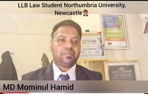 """Elected as A Delegate in the """"National Student Union Conference 2021"""" FROM Northumbria University"""