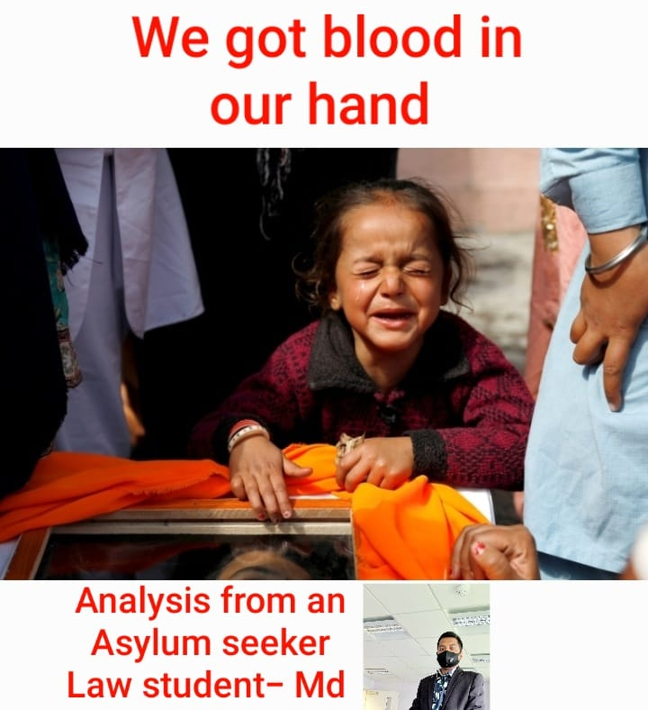 """Read more about the article We got blood on our hand                               """"Afghanistan""""                               (Analysis from an Asylum seeker Law Student)"""